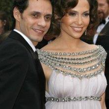 Jennifer Lopez e Marc Anthony al tappeto rosso degli Oscar 2007