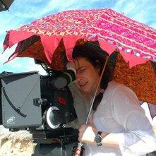 Francesca Archibugi sul set di Lezioni di volo