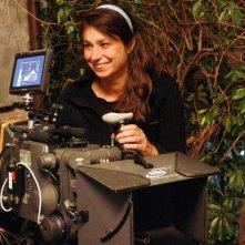 Francesca Archibugi sul set del film Lezioni di volo