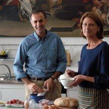 Roberto Citran con Angela Finocchiaro in una scena del film Lezioni di volo