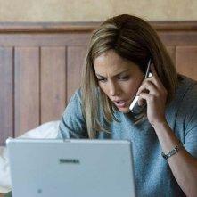 Jennifer Lopez in una scena del thriller drammatico Bordertown