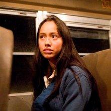 Maya Zapata in una scena del film Bordertown
