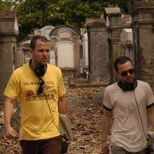 Matthew Peterman e William Brent Bell sul set del film Stay Alive