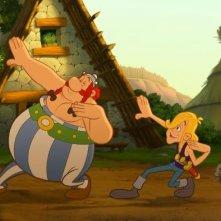 Obelix e Asterix in una scena del film Asterix e i Vichinghi
