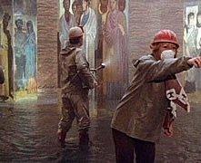 Una scena del film Roma diretto da Federico Fellini