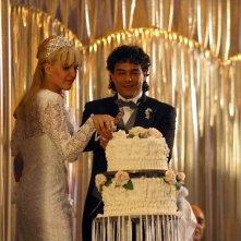 Marco Leonardi e Julieta Diaz in una immagine del film Maradona, la mano di Dio