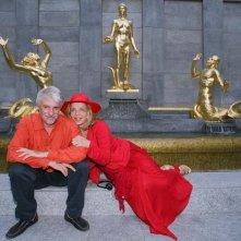 Ricky Tognazzi e Simona Izzo sul set di Tutte le donne della mia vita