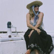 Simona Izzo sul set di Tutte le donne della mia vita