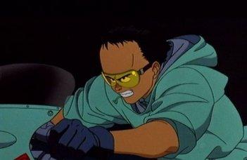 Una scena d'azione del film Akira