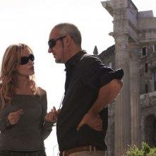 Stefania Rocca con Andrea Manni sul set del film Voce del verbo amore
