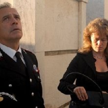 Enrico Montesano in una scena del biopic Il Lupo