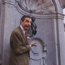 Rowan Atkinson a Bruxelles durante la promozione per Mr. Bean's Holiday