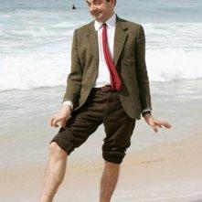 Rowan Atkinson a Sidney durante la promozione per Mr. Bean's Holiday