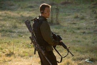 Mark Wahlberg in una scena del film Shooter