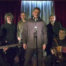 Una foto scattata sul set del film Liscio.