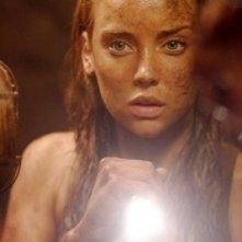 Jessica Stroup in una scena di The Hills Have Eyes II (2007)