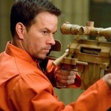 Mark Wahlberg in una scena di Shooter, da lui interpretato nel 2007