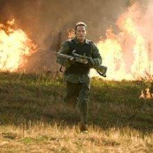 Mark Wahlberg in una scena di Shooter, da lui interpretato