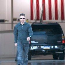 Mark Wahlberg in una scena di Shooter