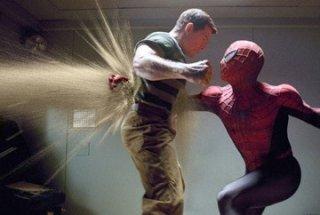 Thomas Haden Church e Tobey Maguire in una scena di Spider-Man 3