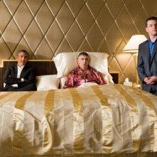 George Clooney, Elliott Gould e Matt Damon in una scena del film Ocean's Thirteen