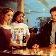 Richard Linklater, Julie Delpy ed Ethan Hawke sul set del film 'Prima dell'alba'