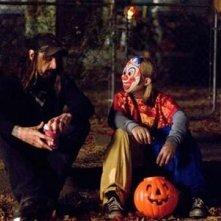 Daeg Faerch e Rob Zombie sul set diHalloween
