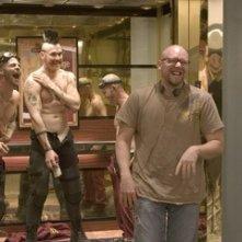 Joe Carnahan, Chris Pine, Kevin Durand e Maury Sterling sul set del film 'Smokin' Aces'