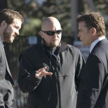 Joe Carnahan, Ray Liotta e Ryan Reynolds sul set del film 'Smokin' Aces'