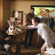 Martin Henderson, Ben Affleck, Jason Bateman e Peter Berg in una scena del film Smokin' Aces