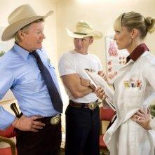 Michael Parks, James Parks e Marley Shelton una scena del film Death Proof, episodio del double feature Grind House