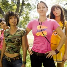 Zoe Bell, Tracie Thoms e Mary Elizabeth Winstead  in una scena del film Death Proof, episodio del double feature Grind House