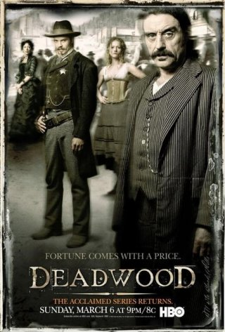 Un'immagine promozionale della serie 'Deadwood'