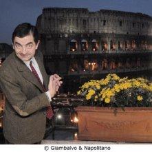 Rowan Atkinson a Roma durante la promozione per Mr. Bean's Holiday