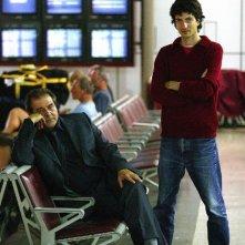 Davide Marengo ed Ennio Fantastichini sul set di Notturno Bus
