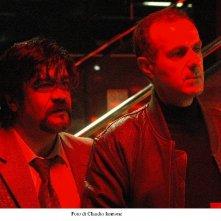 Roberto Citran e Francesco Pannofino in una scena di Notturno Bus