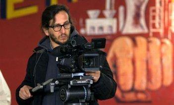 Daniele Vicari sul set del film Il mio paese