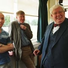 Nicholas Hytner,  Alan Bennett, e Richard Griffiths sul set del film The History Boys