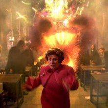 Imelda Staunton in una scena di Harry Potter e l'Ordine della Fenice