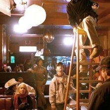 Il regista David Ayer sul set del film Harsh Times - I giorni dell'odio