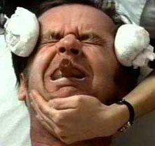 Jack Nicholson in una immagine del film Qualcuno volò sul nido del cuculo