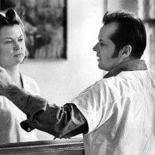 Jack Nicholson in una bella immagine di Qualcuno volò sul nido del cuculo