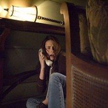 Kristen Stewart in una scena del thriller The Messengers