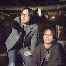Oxide e Danny Pang sul set del film The Messengers