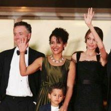 Il cast di A Mighty Heart a Cannes con Mariane Pearl