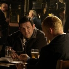Nick Frost con Simon Pegg in Hot Fuzz