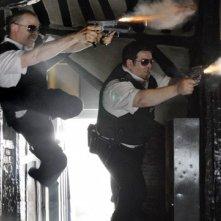 Nick Frost e Simon Pegg nel film Hot Fuzz