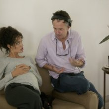 Angelina Jolie e Michael Winterbottom sul set del film A Mighty Heart