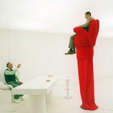 Giampiero Ingrassia in una scena di Terapia Roosevelt di Vittorio Muscia