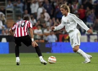 David Beckham in una scena del film Goal! 2 Living the Dream